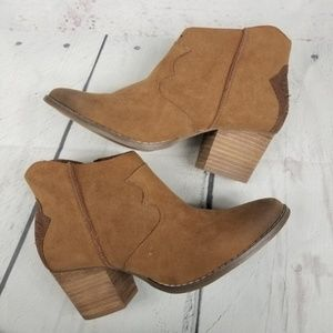 CATO western style stacked heel ankle boots
